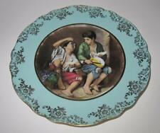 Kuba Porzellan Bavaria Germany Murillo Boys Eating Grape Decorative Plate 10 3/4