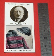 JOCKEY 1926 OGDEN'S CIGARETTES CARD TRAINERS OWNERS' COLOURS 20 R. MORETON