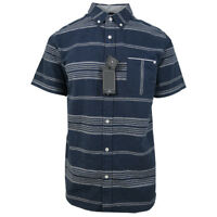Rip Curl Men's Navy Stripe S/S Woven Shirt (Retail $55)