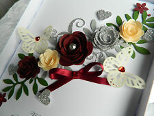 Handmade Personalised Card Birthday 18th 20 30 50 60 80 Anniversary Wedding Box