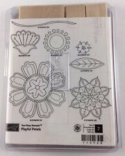 Stampin' Up! PLAYFUL PETALS (set of 7) Stamps - Two-Step Stampin'-RETIRED-NEW!
