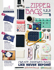 Anita Goodesign Embroidery Machine Design CD ZIPPER BAGS 1,2,3 Special Edition