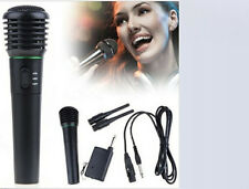 2in1 Karaoke Singing Wired & Wireless Handheld Microphone Mic Receiver System