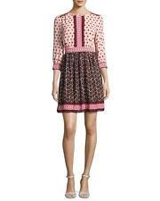 KATE SPADE - 3/4 sleeve smocked floral tile dress sz 14 $378 NEW