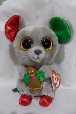"Ty Beanie Boos MAC 6"" Christmas holiday mouse NWT"