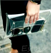 Transparent PVC Perspex Envelope Clutch Bag