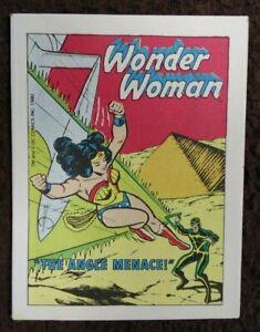 WONDER WOMAN THE ANGLE MENACE POST CEREAL MINI RARE COMIC 1980