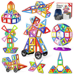 For Kids Children Building Blocks 133 Pcs Magnetic Tiles Toys Sets 3D Xmas Gift