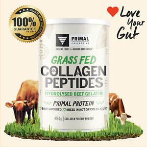Premium Grass Fed Collagen Peptide Protein Powder 454g, Paleo and Keto Friendly