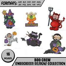 BOO CREW Embroidery machine designs on CD or USB PES JEF HUS