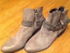 Dolce Vita Women's Nevada Grey Leather Moto Biker Ankle Boot Bootie Sz  9 M NWOB