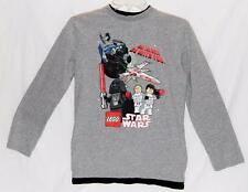 Star Wars Lego Boys Gray Graphic Long Sleeve Crewneck T-Shirt Size Large