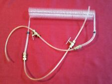 "Plastic Lab Rigid Tube Coil, 12"" Laboratory Coiled Tube, Brass Valves & Couplers"