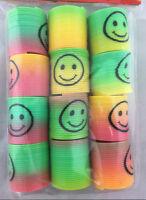 36pc Mini Plastic Colourful Rainbow Spring Slinky Kids Toy Party Favour Bulk