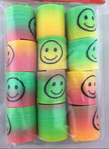 36pc Mini Plastic Colourful Rainbow Spring Kids Toy Party Favour Bulk
