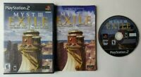 Myst III Exile 3  PlayStation 2 PS2 Complete Game w/ Manual CIB Works Clean Disc