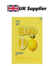 Pure Essence Maschera foglio-Limone-Idratante + vitalità-Holika Holika-UK FORNITORE