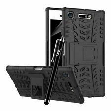 Sony Xperia XZ1 Case,Black Hard Back Heavy Duty Tough ShockProof Armor Case