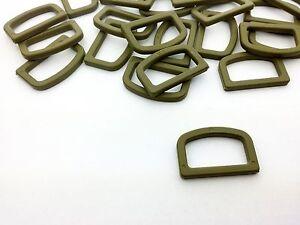 Plastic D rings. D-ring. OD Green Khaki - ITW FASTEX high quality Nylon.