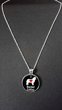 """Love Border Collies Pendant On 18"""" Silver Plated Fine Metal Chain Necklace N469"""