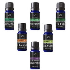 Aromatherapy Top 6 Essential Oils 100% Pure Therapeutic grade Basic Sampler NEW