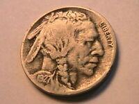 1927-S Buffalo Nickel Fine Original Grey Tone Sharp Date Indian Head 5C US Coin