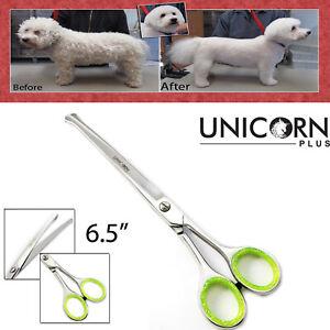 Professional Cat Dog hair Pet Grooming Scissors pet scissors CURVED Shears UK
