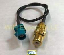 "10"" RF coax Cable Fakra ""Z"" Male to RCA Jack Female RG174 15cm for Waterblue"