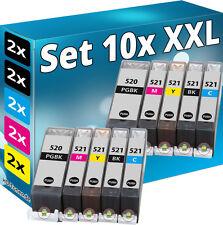 10x TINTE PATRONEN PGI520 CLI521 für CANON PIXMA MP540 MP550 MP560 MP620 MP630