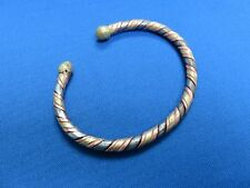 West Africa Mali African Ethnic Jewelry Brass And Copper Twisted Bracelet B