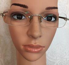 Luxuriator Diamond And Buffalo Horn In 18k White Gold Prescription Eye Glasses