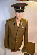 SOVIET RUSSIAN ARMY ARTILLERY OFFICER'S UNIFORM TUNIC JACKET PANTS HAT POST WWII