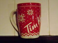 "Tim Hortons  ""Christmas Sweater"" set of 2 Coffee Mugs Limited Edition 2015"