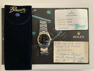 Rolex Air-King Precision Men's Black Watch - 5500 - Full Serviced!