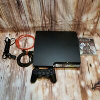 Sony PlayStation PS3 Slim 120GB 2001A With Controller, Cables & Game *Tested*