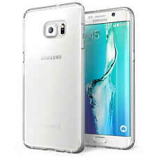 Crystal Clear Thin Back TPU Gel Jelly Skin Case Cover For Samsung S6 EDGE UK