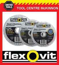 FLEXOVIT ULTRA THIN FAST CUT AUS MADE ANGLE GRINDER CUTTING WHEELS / DISCS