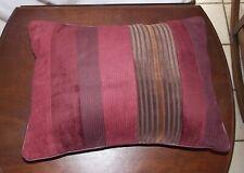 Red Stripe Velvet Decorative Pillow 13 x 18