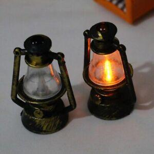 Vintage Retro Kerosene Lamp Mini Furniture Miniature Rement Play Do House 1:12 D