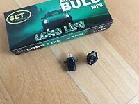 2 x SCT GERMANY LONGLIFE LAMPE MF8 B8,3D 12V 1,2W LAMP BULB