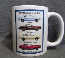 1975 Ford Mustang II Models Coffee Cup, Mug - Vintage Ad Image