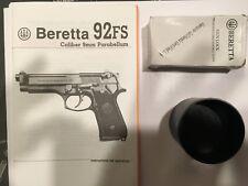 Beretta Factory Pistol Case Parts Kit New - Beretta 92 - Manual, Parts Cup, Lock