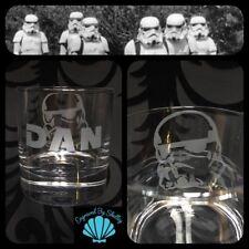 Star Wars Tumbler Stormtrooper Whiskey Glass Gift Personalised Name Engraving