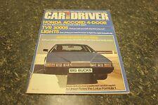 CAR AND DRIVER HONDA ACCORD 4-DOOR MARCH 1979 VOL.24 #9 9248-1 [LOC.ELK] #226