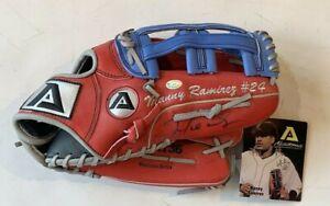 """Manny Ramirez Red Sox Signed Game Issued 13"""" Akadema AMA136 Pro Glove Auto"""