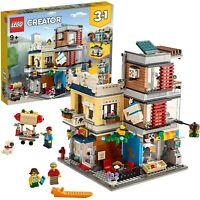 LEGO Creator Tienda de Mascotas y Cafetería Nuevo set de construcción Edificios