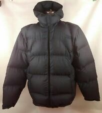 Adidas Mens Puffer Padded Jacket Goose Down Hooded Blue Size XL Extra Large