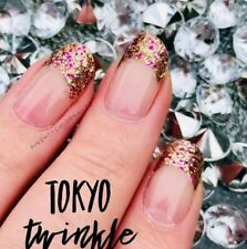 Color Street TOKYO TWINKLE (French Manicure Pink Gold Fuchsia Glitter Holiday)