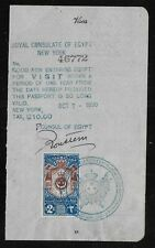 Egypt Revenues Passport Visa Stamps