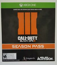 XBOX ONE Call of Duty: Black Ops III 3 *4 maps Season Pass VOUCHER CARD ONLY*
